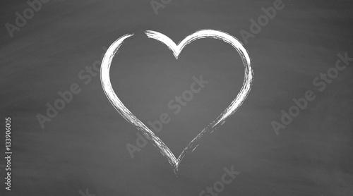 Photo Stands Personal Valentinstag | Herz auf Schiefertafel