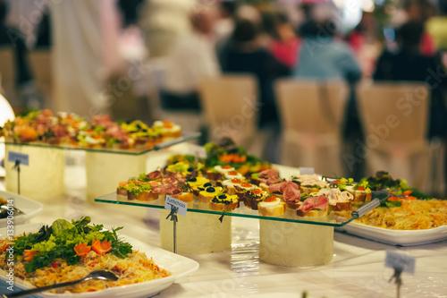 In de dag Bangkok catering cater buffet wedding bride