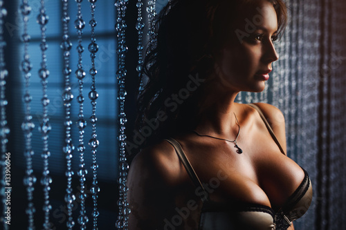 Young sexy woman Canvas Print