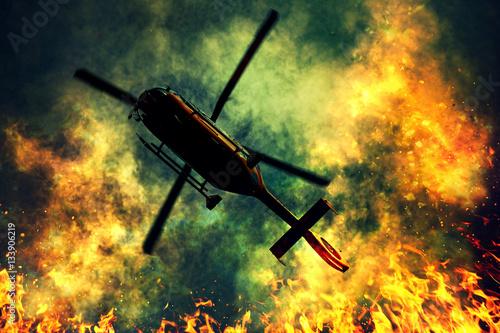 Türaufkleber Hubschrauber Rescue helicopter