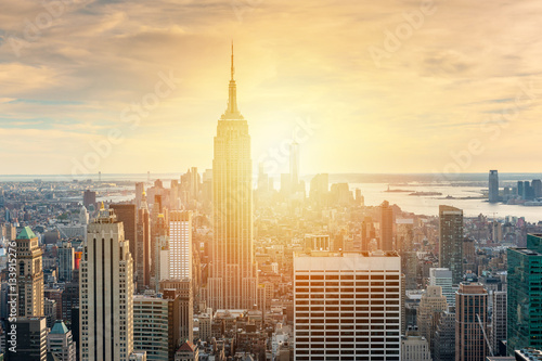 Photo sur Toile New York Sunset on Manhattan