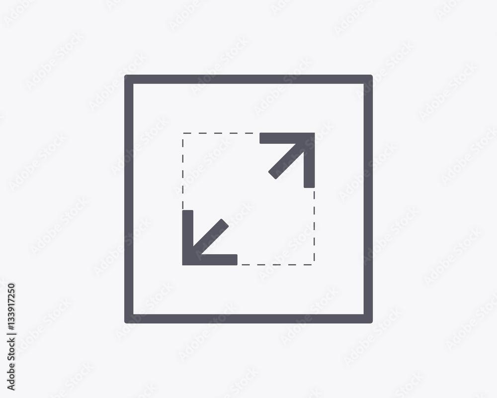 Fototapety, obrazy: Expand Icon - Vector illustration. Minimal thin line design.