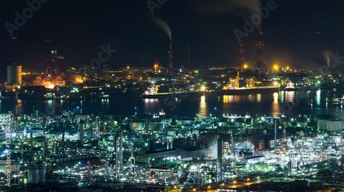 Staande foto Industrial geb. Mizushima coastal industrial area in Japan