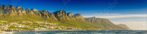Poster Afrique du Sud Panorama of the Twelve Apostles in South Africa