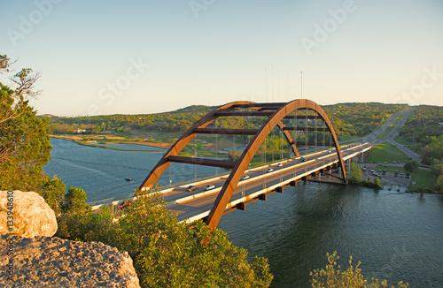 Poster Texas Pennybacker Bridge in Austin Texas