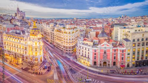 In de dag Madrid Gran Via From Above