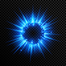 Abstract Blue Light Sphere Eff...