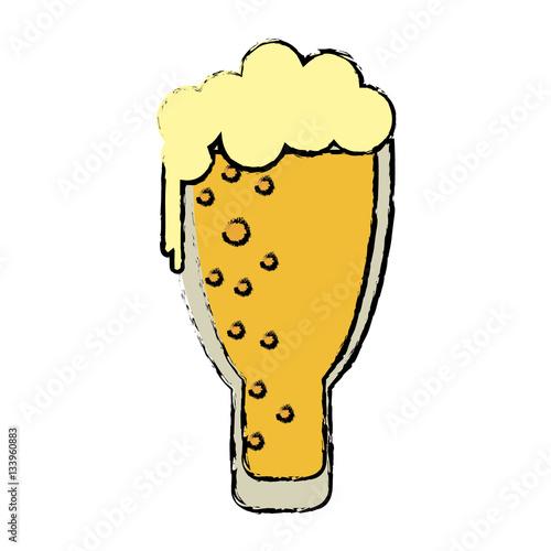 Photo cartoon saint patrick day frosty glass beer celebration vector illustration eps