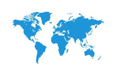 Fototapeta Political World Map vector Illustration.
