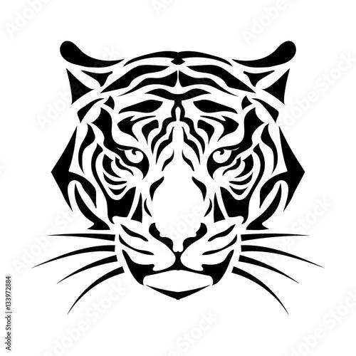 stylized tiger muzzle Wall mural