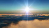 latać w chmurach zachód słońca - 133973439