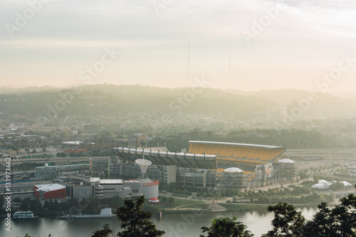 Heinz Field Pittsburgh at Sunrise Canvas Print