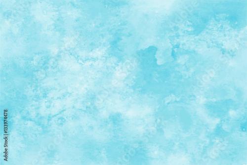 Fotografie, Obraz  Blue watercolor vector background