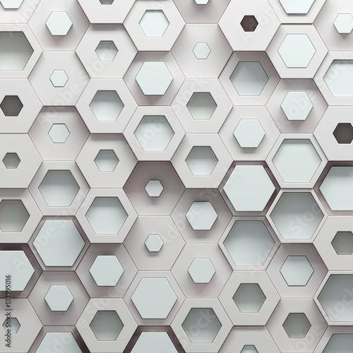 paramtric-heksagonalny-koloru-wzor-3d-ilustracja