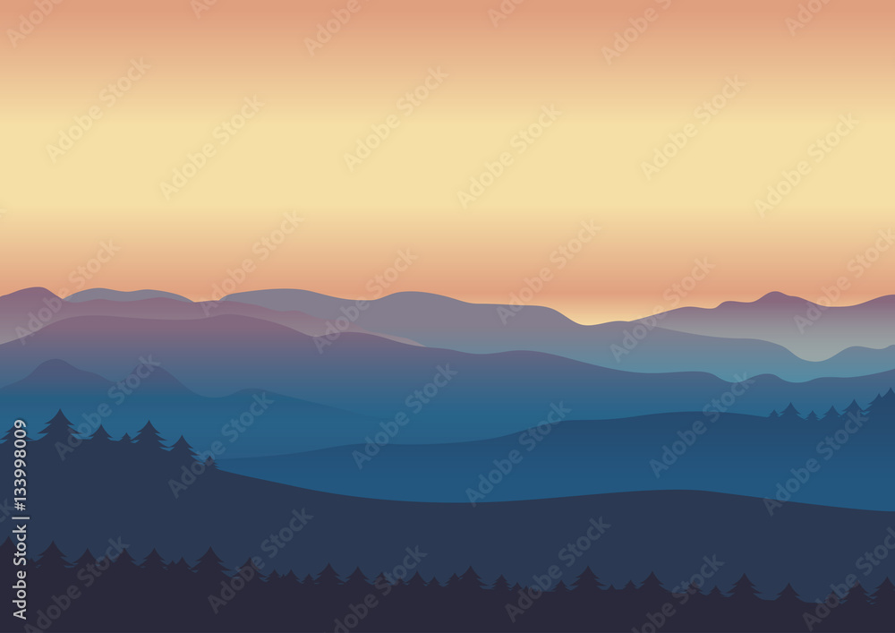 Fototapety, obrazy: nature landscape twilight background