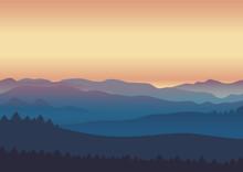 Nature Landscape Twilight Back...