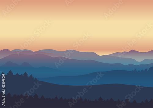 Canvas-taulu nature landscape twilight background