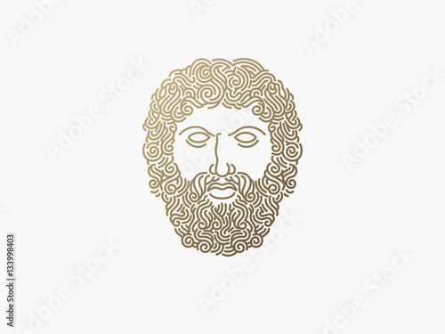 Photo  face logo design template. vector