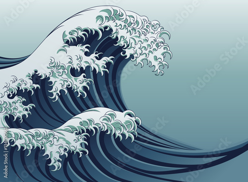Great Wave Wallpaper Mural