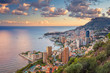 canvas print picture Monaco. Cityscape image of Monte Carlo, Monaco during summer sunset.