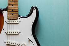 Electric Guitar Body And Neck Detail