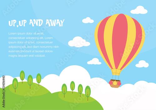 Fotografie, Obraz  Hot air balloon Background