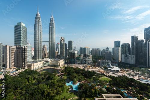 Canvas Prints Kuala Lumpur Kuala lumpur city skyline and skyscraper in Kuala lumpur, Malays
