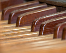 Organ Pedal Close-up From 19th Century