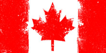 Grunge Flag Of Canada With Spl...