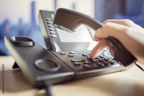 Fotografie, Tablou  Dialing telephone keypad