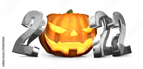 Fotografia  2022 silver Halloween isolated symbol