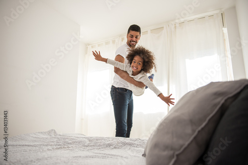 Now I feel like a fairy who can fly! - Buy this stock photo and
