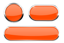 Orange Buttons With Chrome Frame
