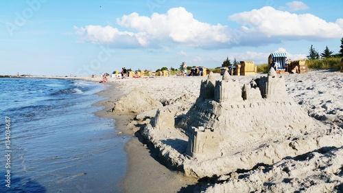Fotografia, Obraz  Strand Strandburg Ostsee