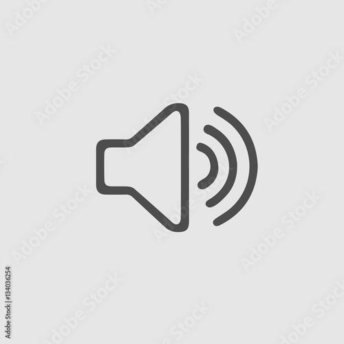 Sound symbol vector icon eps 10. - 134036254