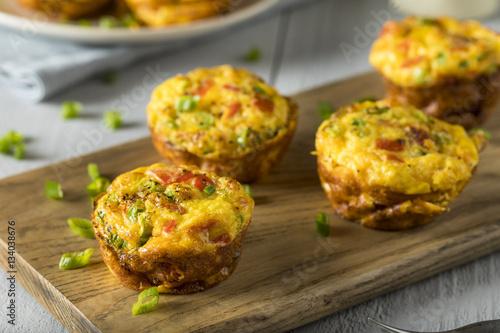 Homemade Healthy Breakfast Egg Muffins Fototapeta