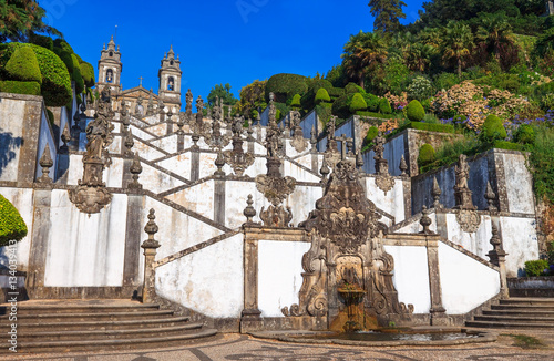 Tuinposter Monument Stairs of Church Bom Jesus do Monte