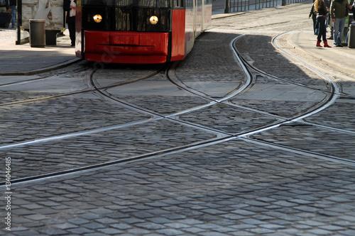 Eine Straßenbahn in Bremen