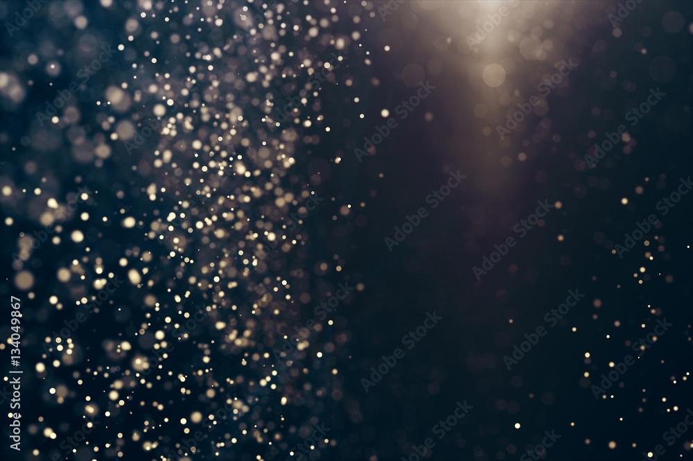 Fototapety, obrazy: Glitter lights abstract background. Defocused bokeh dark illustration