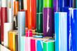 canvas print picture - Bunte Folienrollen in der Werbetechnik