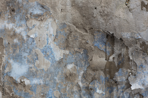 Deurstickers Oude vuile getextureerde muur texture of the old blank walls, peeling paint, rough plaster, abstract background and a banner copy space