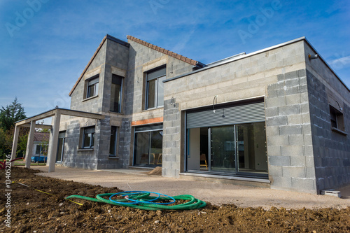 Foto chantier d'une maison en construction