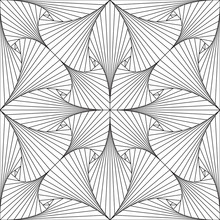 Geometric Abstract Line Pattern. Seamless Vector Background