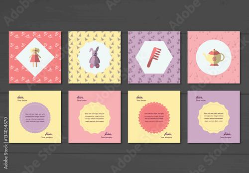 Childs Birthday Card Layout Set 2