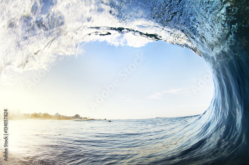 Canvas Prints Water Close-up of wave splashing in sea