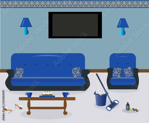 Cleaning In The Living Room A Coffee TableLamps On The Wall A Inspiration Cleaning Decorative Pillows