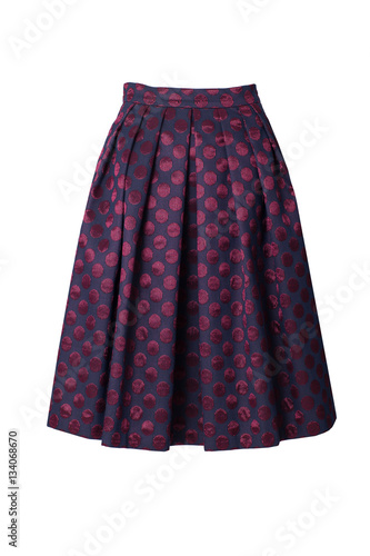 Retro skirt isolated on white background Wall mural
