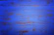 canvas print picture - Dark blue rustic wood background, with applied dark vignette fil
