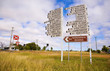 canvas print picture - Australia Queensland Outback Two Large Direction Signs