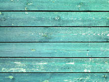 Rustic Old Plank Background In Turquoise, Mint And White Colors